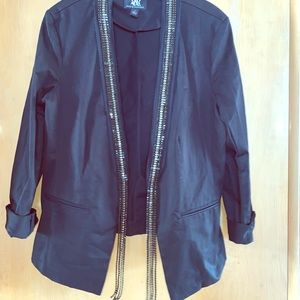 Rock and Republic Black Jeweled Blazer